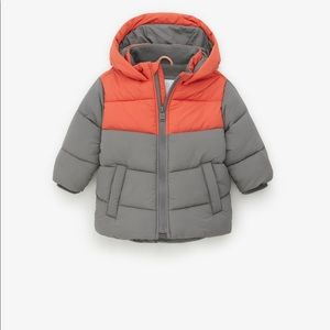 Zara baby boy block color puffer jacket